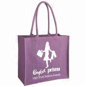 Eco-friendly Material Customized Graphic Promotional Fashion Jute Shopping Bags from China (mainland)