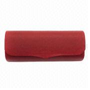 Fashionable Metal Eyeglass Case with Plastic Outer Decoration, Made of Iron and Leather