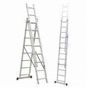 Telescopic aluminum alloy 3*9 extended step ladder from China (mainland)