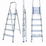 5-step aluminum folding steps ladder from China (mainland)