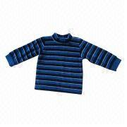 Long-sleeved Babies' T-shirt, Flannel, Customized Designs, Fabrics and Logos Welcomed from China (mainland)