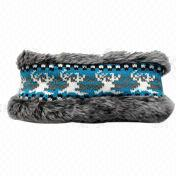 Jacquard Faux Fur Hair Band from China (mainland)
