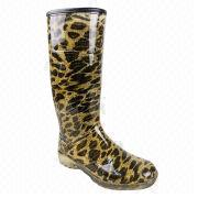 Leopard Grain sexy rain boot from China (mainland)
