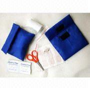 Blue Velcro valve medical pouch from China (mainland)