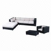 Outdoor teak wood rattan sofa set from China (mainland)