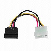 4-pin Molex to 15-pin SATA Power Adapter, 14.4cm Length