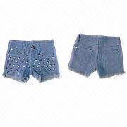 Kid's denims short from Hong Kong SAR