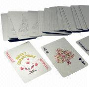 Silver playing card from China (mainland)
