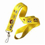 Cartoon Lanyard, Made of Smooth Polyester, Used for USB Flash Drives