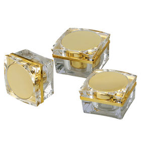 Cosmetic Acrylic Squared Cream Jar from China (mainland)