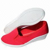 Women's Wedge Canvas Shoes from China (mainland)