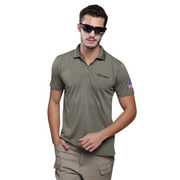 Green Tactical Breathable Outdoor Sports T-shirts with Quick Drying Functions