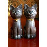 Wholesale Wooden Cat animal Set sculpture and craving decorative Thailand handicraft., Wooden Cat animal Set sculpture and craving decorative Thailand handicraft. Wholesalers