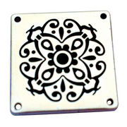 Engraved metal logo plate from China (mainland)