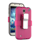 Shell Holster Combo Belt Clip Mobile Phone Cover Case for Samsung S4 from China (mainland)