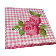 China Paper napkin, food grade ink, 100% virgin wood pulp, various designs and sizes are available