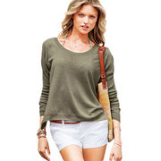 Women's round-neck knitted T-shirts from Hong Kong SAR