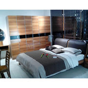 2014 modern wooden glossy functional headboard bedroom set furniture from China (mainland)