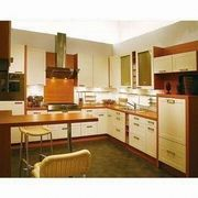 China Kitchen Cabinets, Made Of MDF Board And PU High Gloss Finish, Plywood  Carcass