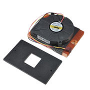 Skived copper heatsink with fan for coummuication/ server