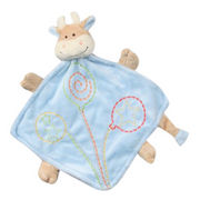 Cute Babies' Dry Goods Blue Cow Plush Toy-shaped Blanket from China (mainland)
