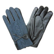 Blackish Genuine Cow Leather Gloves from China (mainland)