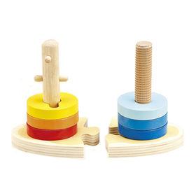 2014 new children's wooden stacking toy Manufacturer