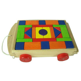 2014 new hot sale wooden block car funny toy Manufacturer
