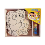 2014 new kid's wooden popular modern art babies' play painting toys from China (mainland)