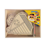 2014 new kid's wooden popular DIY children puzzle from China (mainland)