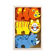 2014 new colorful wooden kid's block puzzle toy s