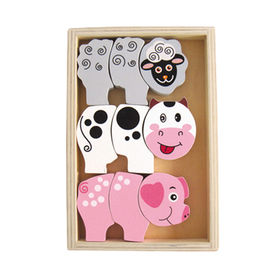2014 new colorful wooden kid's animal popular cut Manufacturer