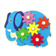 2014 new babies' wooden popular cute gear game toy Manufacturer