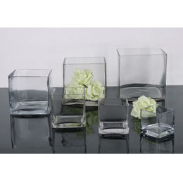 Square Glass Vases from China (mainland)
