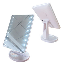 Desktop Makeup Mirror with LED Lights, Touch Screen Switch, 180° Adjustable from China (mainland)