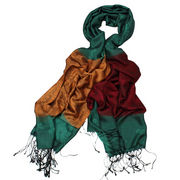 70% viscose and 30% polyester materials/yarn-dyed woven scarves, silk-like, suitable for women