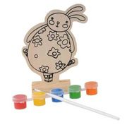 2014 new play baby paint popular pig DIY toy set hand wooden figure series from China (mainland)
