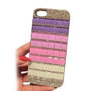 3D Crystal Rhinestone Fashionable Mobile Phone Case Cover for iPhone, Customized Designs Acceptable
