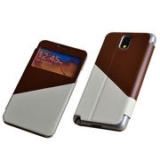 China Combined PU matching design case for Samsung Note