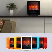 China Portable Mini Cube Electric Fireplace With Realistic Coal Effect
