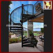 China Led Deck Steel Exterior Spiral Staircase