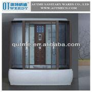 Bon China Deluxe Bamboo Massage Steam Shower Room Shower Door Frame Parts Lowes  Bathtub Showers