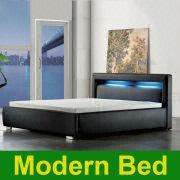 Cool Bedframes 2013 king queen twin size cool modern leather bed frame bedroom