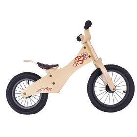 Wooden children bike toy