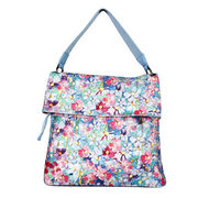 Ladies' Canvas Handbag, Unusual Shivering Flower Printing for Picnic or Beach from Fuzhou Oceanal Star Bags Co. Ltd