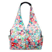 Canvas Handbag with Colored Drawing Distinctive Flowers Design from Fuzhou Oceanal Star Bags Co. Ltd