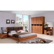 Modern leather headboard wooden bedroom furniture from China (mainland)