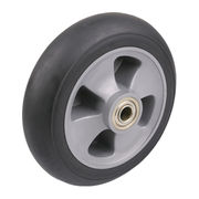 Black high elastic PU buffer balloon wheel from China (mainland)