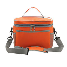 Lunch cooler bag, made of 1680D oxford material with double zippered closure for cooling the food from Fuzhou Oceanal Star Bags Co. Ltd