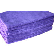 Stock microfiber towel, measures 34*75cm, made of 88% cotton and 12% polyester